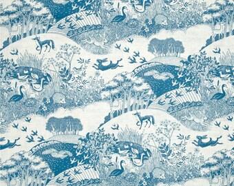 Heartwood scenic blue Henley Studio Makower UK fabric FQ or more