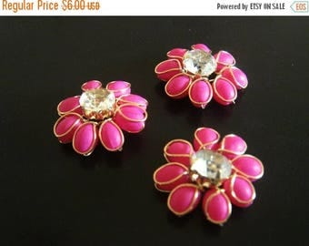 CIJ SALE beaded flower cabochon -  mtf032 - 7 pc
