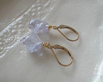 Lilac Murano Glass Earrings