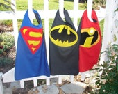 SHIPS TODAY, Superman cape, Batman cape, superhero cape, gift for kids, kids cape, Christmas gift for kids