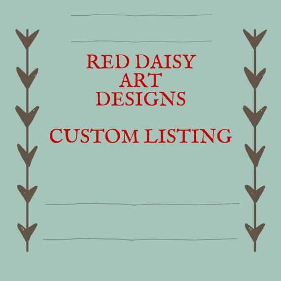 Custom Listing for Madelyn