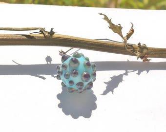 """Réservé sandrine     """" 1  perle focale  en verre filé à la flamme /réserved sandrine handmad lampwork"""
