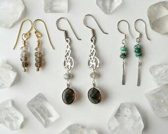 Small Bohemian Sterling Silver  Earrings