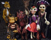 Small Day of the Dead Mariachi marionette (custom order)  Down Payment