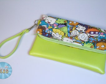 Rugrats Inspired Foldover Clutch - Wristlet, Fully Lined, Inside Pockets - The Sasha