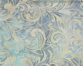 on sale Garden Oasis #51-05 Blue Batiks Benartex Quilt Fabric Batik by the 1/2 yard