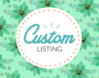 Custom Listing for Meredith