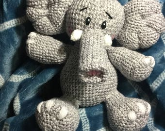 Crochet elephant Any color you want READY To SHIP