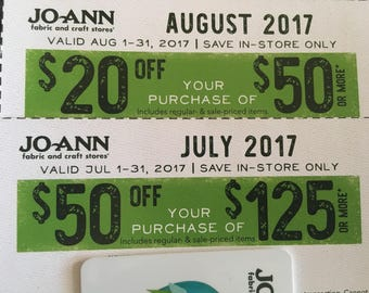 Joann Fabrics & Crafts coupons July/Aug