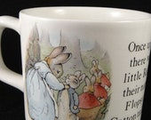 Peter Rabbit Ceramic Cup Wedgwood & Barlaston of Etruria England