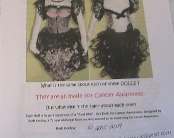 "LADY In LACE BrA DoLL~Barb Keeling~Rare 2009~14""-16"" cloth art doll pattern"