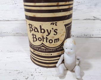 RARE Vintage Baby's Bottom Tobacco Tin Savoy's Bond St. London