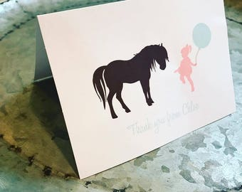 Shabby Chic Pony Thank you Cards