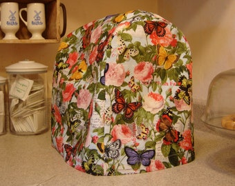Arti KitchenAid mixer DUST COVER only,  Floral and BUTTERFLIES For 4.5- 5 qt Tilt Head