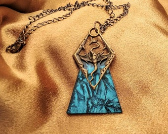 Dragons dragon lovers mother of dragons dragon gifts game of thrones fantasy creatures stained glass necklace brockus creations