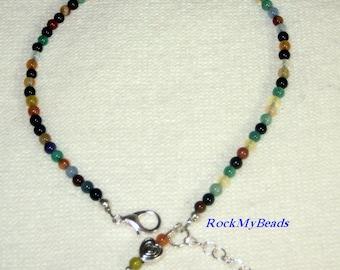 Multicolored Ankle Bracelet - Anklet, ankle jewelry, leg jewelry, anklet, ankle bracelet, bracelet, beaded anklet, beaded ankle bracelet