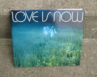 1971 Love is Now Hallmark book hardcover dust jacket love poems and pictures gift idea