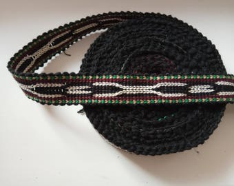 Uzbek color woven trim Jiyak. Ethnic Boho, Hippy trim. NTR008