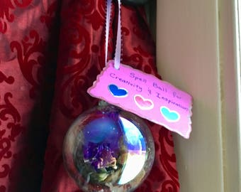 Witch Ball / Spell Ball / Magickal Ornament for Creativity & Inspiration