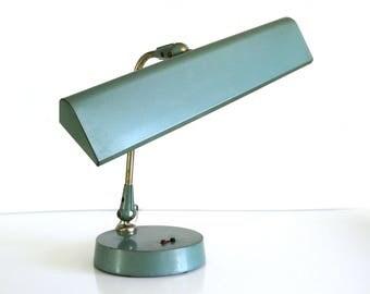 Mid Century Desk Lamp / Industrial Task Lighting / Vintage Office Decor