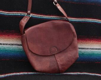 BRIDGET | Vintage  Brown Genuine Leather Hobo Shoulder Bag