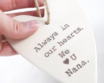 gift for nana - custom christmas ornament for grandparent from grandchildren - design your own personalized gift for grandma - custom text