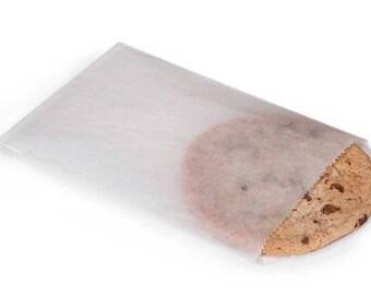 White Glassine Bags (50) * 6 3/4 x 9 * cookies * sandwich bag * paper bag * flat bag