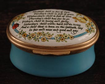Bilston and Battersea Enamel Box by Halcyon Days, Tuesday's Child, England