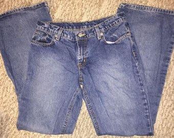 Vintage Ralph Lauren Women's Mom Jeans Size 7/8 Hipster Flare 100% Cotton