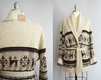 1970s Belted Cardigan | Medium-Large