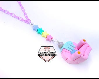 Mermaid Lounger Necklace, Mermaid Chair, Kawaii, Pastel, Mermaid, Fairy Kei
