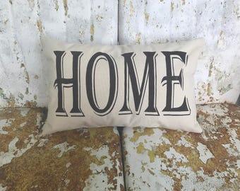 HOME Cotton Canvas Believe Burlap Pillow Rustic Country Farm House Throw Accent Pillow Custom Colors Available Home Decor Housewarming