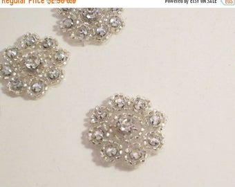 ON SALE Tiny Crystal Beaded Rhinestone Applique--One Piece
