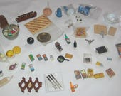 Big Miniature Lot DESTASH dollhouse minis for tiny hoarders / hoarders of teeny things most 1:12  scale  adorable instant vintage collection