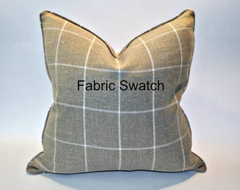 Sample - Swatch of High End Jute and Natural Woven Window Pane fabric
