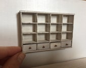 Dollshouse miniature shelves, furniture 1:12 scale one inch, miniature furniture, dollhouse kitchen, dollhouse furniture