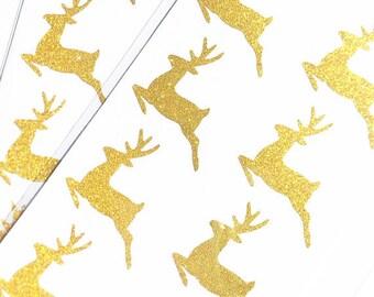 PRE-ORDER**EXCLUSIVE**Reindeer Gold Glitter Sticker (20 Stickers per pkg.)