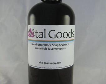 ON SALE African black soap shea butter shampoo Grapefruit Lemongrass12oz dreadlock shampoo
