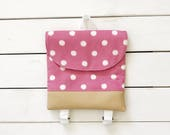 Pink Polka Dot Tiny Pack - Small Backpack - Toddler Backpack - Tiny Backpack - Toddler Bag - Backpack - Toddler Purse - Kid Backpack