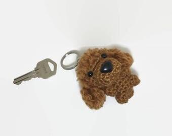 Poodle Keychain Crochet Dog Purse Charm Amigurumi Puppy