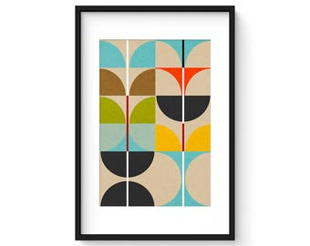 SWAN no.4 - Giclee Print - Mid Century Contemporary Modern Abstract Modernist Art