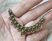 5 pcs of Antique bronze charming flower connectors pendant,metal finding ,flower connectors findings beads,beads findings