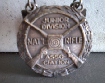 Vintage 1950's Metal Medal - Pro-Marksman-Junior Division-National Rifle Association
