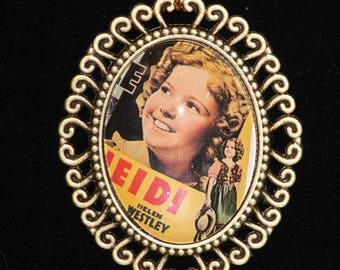 Shirley Temple Heidi Bronze Filigree Necklace