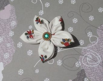 White fabric flower