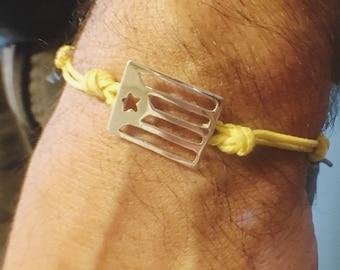 Catalonia flag sterling silver bracelet independence bracelet African jewelry Estelada jewelry