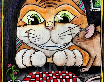 Cat and Mouse Giclée Art Print
