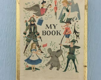 Vintage Antioch Book Plates in Original Box Children's Story Theme Gift