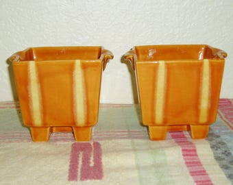 Hull Continental Planter/Candle Holder Persimmon