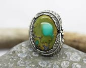 Natural Royston Turquoise Ring Size 8.75